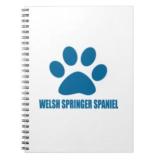 WELSH SPRINGER SPANIEL DOG DESIGNS NOTEBOOK