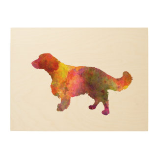 Welsh Springer Spaniel in watercolor Wood Canvas