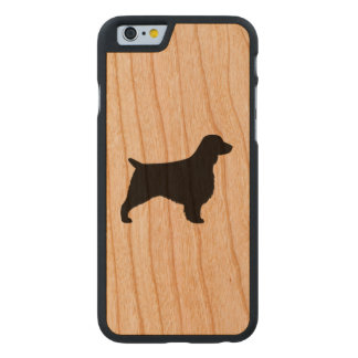 Welsh Springer Spaniel Silhouette Carved Cherry iPhone 6 Case