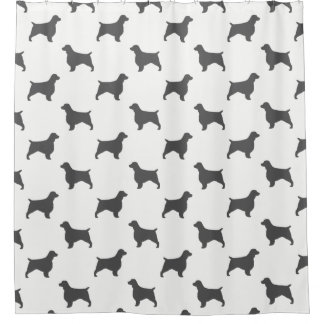 Welsh Springer Spaniel Silhouettes Pattern Shower Curtain