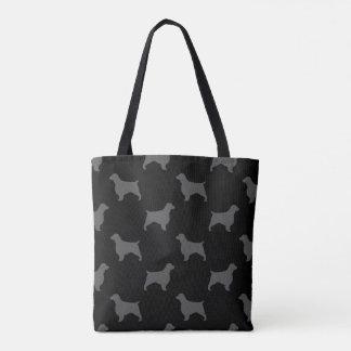 Welsh Springer Spaniel Silhouettes Pattern Tote Bag