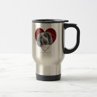 Welsh Springer Spaniel with Heart Travel Mug