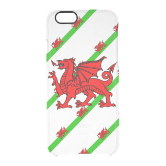 Welsh stripes flag clear iPhone 6/6S case