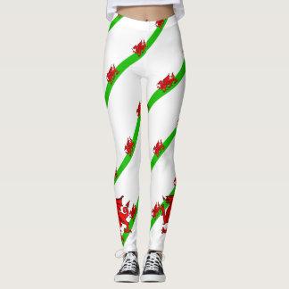 Welsh stripes flag leggings