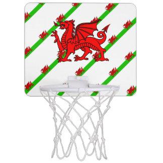 Welsh stripes flag mini basketball hoop