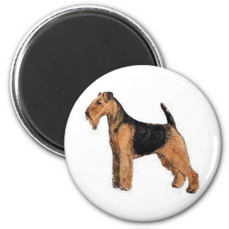 Welsh Terrier 6 Cm Round Magnet