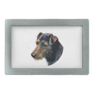 Welsh Terrier Rectangular Belt Buckles