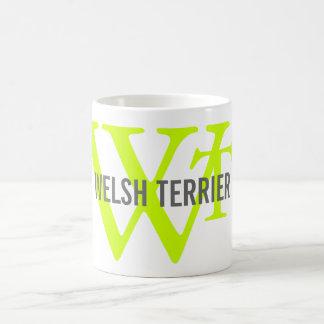 Welsh Terrier Breed Monogram Basic White Mug