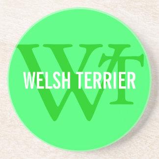 Welsh Terrier Breed Monogram Drink Coasters