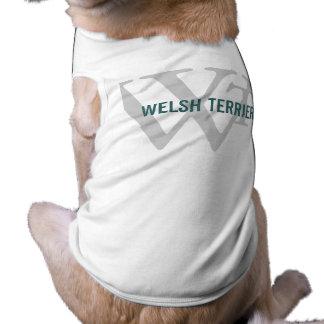 Welsh Terrier Breed Monogram Dog T Shirt
