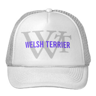 Welsh Terrier Breed Monogram Trucker Hats