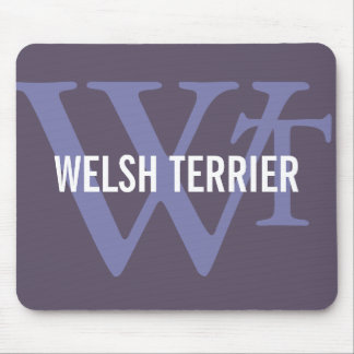 Welsh Terrier Breed Monogram Mouse Pad