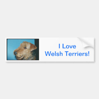 Welsh Terrier Bumper Sticker