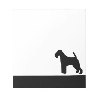 Welsh Terrier dog black silhouette notepad