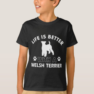 Welsh Terrier dog breed designs Tee Shirts