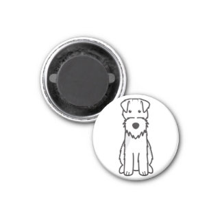 Welsh Terrier Dog Cartoon 3 Cm Round Magnet