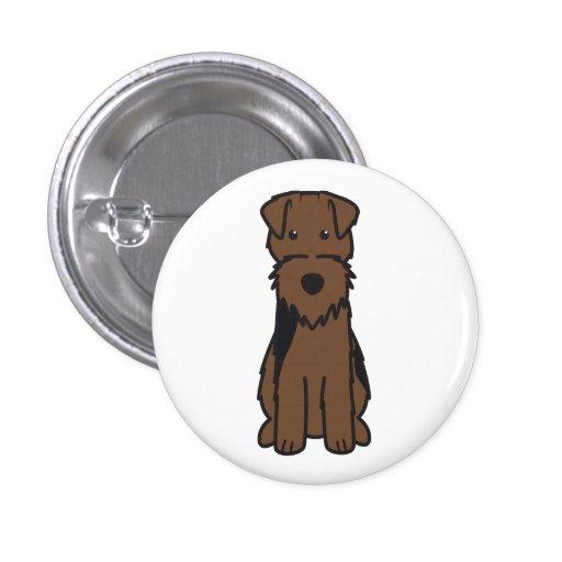 Welsh Terrier Dog Cartoon Buttons