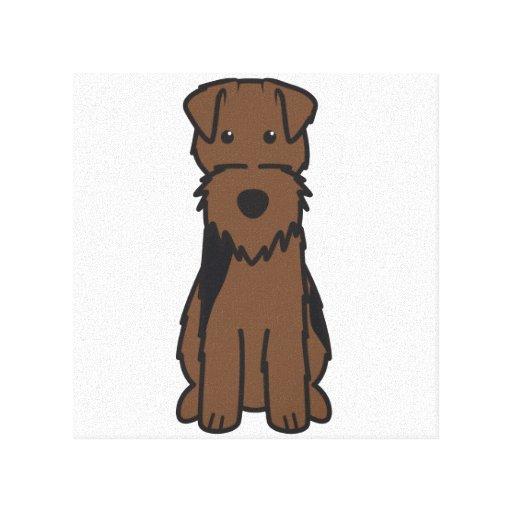 Welsh Terrier Dog Cartoon Gallery Wrap Canvas
