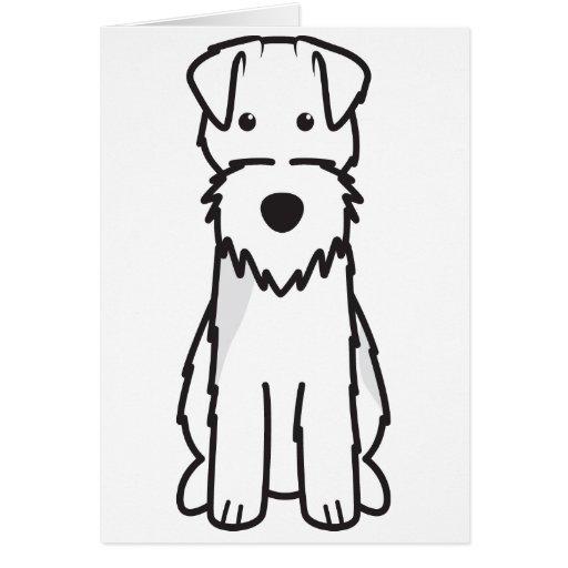 Welsh Terrier Dog Cartoon Card