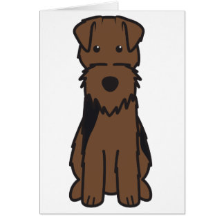 Welsh Terrier Dog Cartoon Greeting Cards