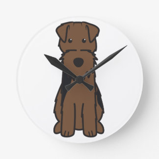 Welsh Terrier Dog Cartoon Wall Clocks
