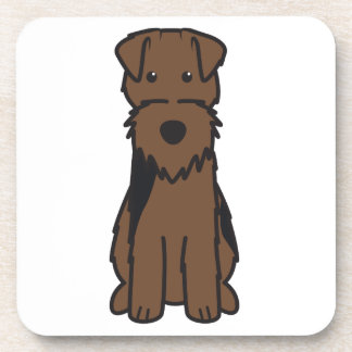 Welsh Terrier Dog Cartoon Beverage Coaster