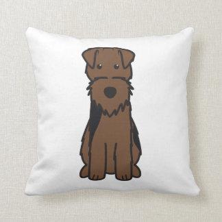Welsh Terrier Dog Cartoon Throw Pillows