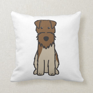 Welsh Terrier Dog Cartoon Throw Pillow