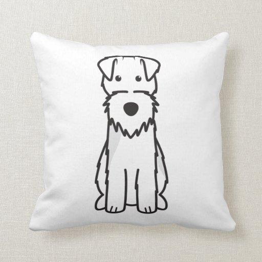 Welsh Terrier Dog Cartoon Pillow