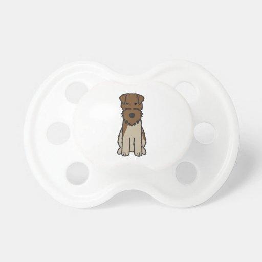 Welsh Terrier Dog Cartoon Baby Pacifiers