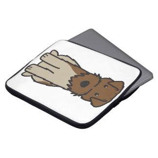 Welsh Terrier Dog Cartoon Laptop Sleeve