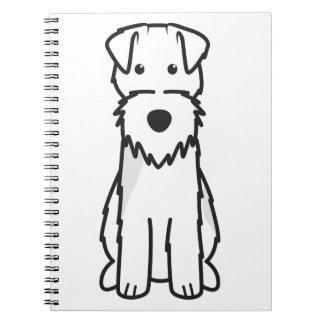 Welsh Terrier Dog Cartoon Spiral Notebook
