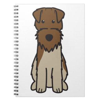 Welsh Terrier Dog Cartoon Journal