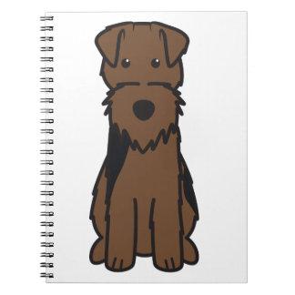 Welsh Terrier Dog Cartoon Note Books