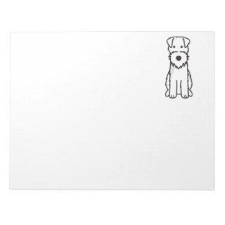 Welsh Terrier Dog Cartoon Memo Notepads