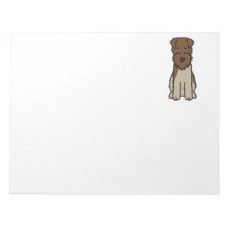 Welsh Terrier Dog Cartoon Scratch Pad