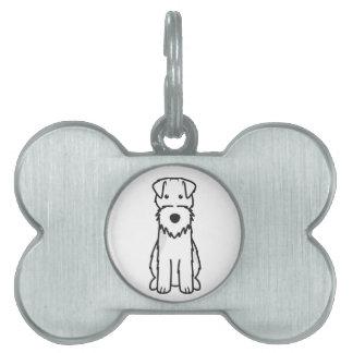 Welsh Terrier Dog Cartoon Pet Name Tag