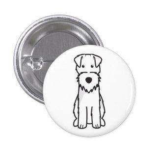 Welsh Terrier Dog Cartoon Pinback Buttons