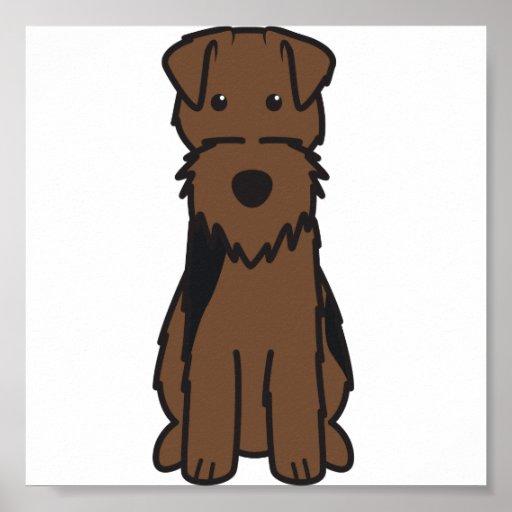 Welsh Terrier Dog Cartoon Print