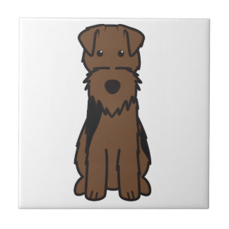 Welsh Terrier Dog Cartoon Small Square Tile