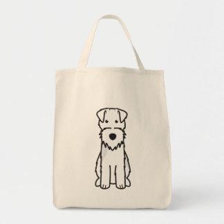 Welsh Terrier Dog Cartoon Grocery Tote Bag