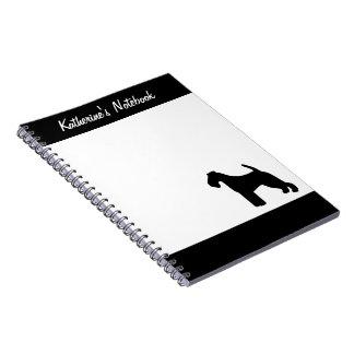 Welsh Terrier dog custom name notebook