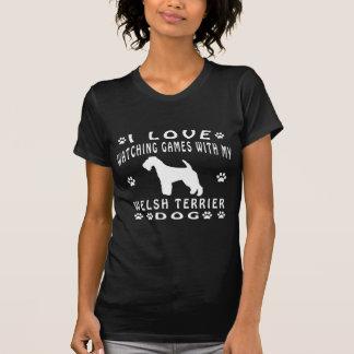 Welsh Terrier Dog Design Shirts