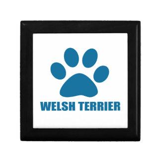 WELSH TERRIER DOG DESIGNS GIFT BOX
