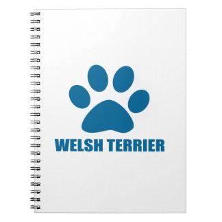 WELSH TERRIER DOG DESIGNS NOTEBOOK