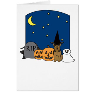 Welsh Terrier Halloween Card