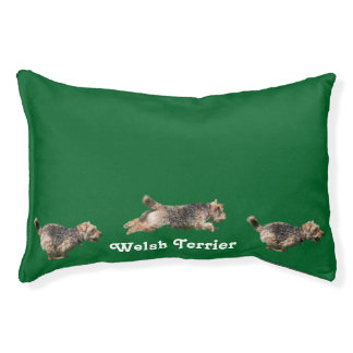 Welsh Terrier Holiday Dog Bed