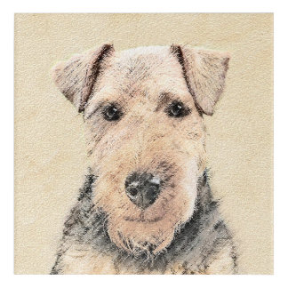 Welsh Terrier Painting - Cute Original Dog Art