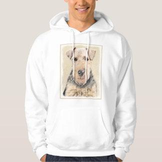 Welsh Terrier Painting - Cute Original Dog Art Hoodie