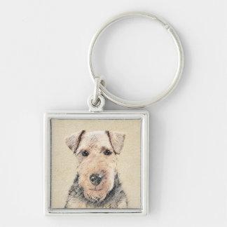 Welsh Terrier Painting - Cute Original Dog Art Key Ring